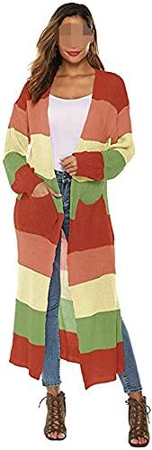 SteCury Blusa tipo kimono de manga larga para mujer con capa abierta, estilo informal, chaqueta tipo kimono
