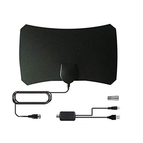 MChoiceHDTV ATSC DVB Universal DTMB Thin Film Indoor Digital Television Flat Antenna Black