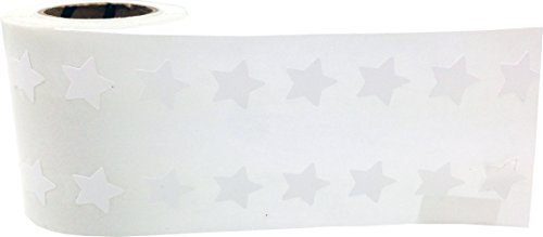 White Star Shape Stickers 0.50 Inch 1,000 Adhesive Labels Photo #3