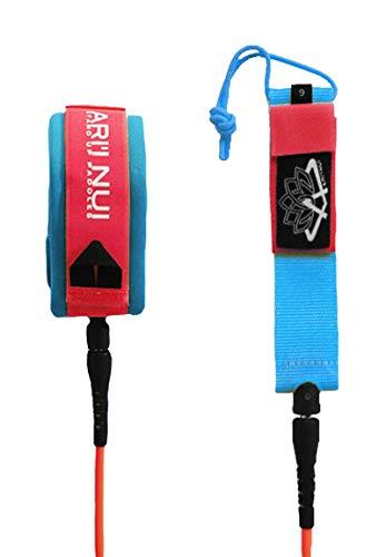 ARI'INUI Leash spirale Genou - Ø 9 mm - Rouge et Bleu