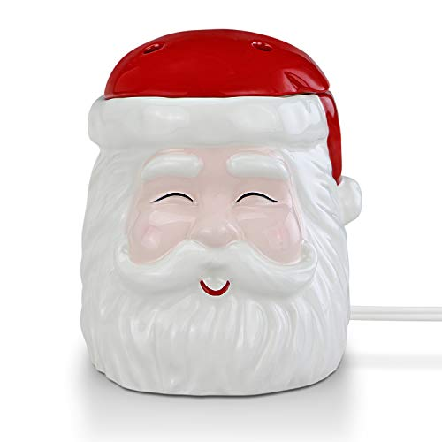 STAR MOON Christmas Electric Candle Wax Melt Warmer for Scented Wax, Scentsy Wax Cubes, Ceramic Wax Melter, No Flame No Smoke No Soot - Smiling Festive Santa Claus