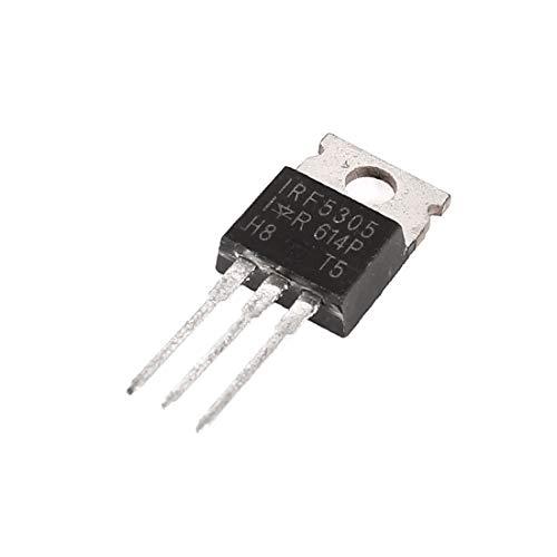 X-Dr IRF5305 Transistor de potencia de alto voltaje de 3 pines PNP TO-220AB (436ea7af238262e1a85868f48731a947)