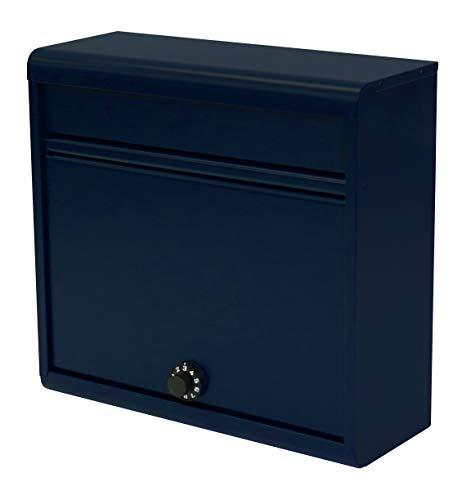 【Amazon.co.jp 限定】グリーンライフ(GREEN LIFE) 郵便ポスト 薄型スチールポスト ダイヤル錠 FH-614D(NV) A4封筒が入る 奥行14.0×高さ35.0×幅37.0cm