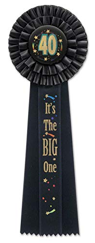 Beistle 40 It's The Big One Deluxe Rosette, 41/2-Inch by 131/2-Inch