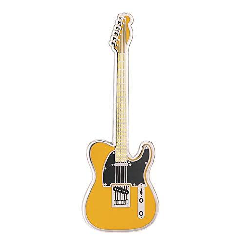 Geepins Esmalte Pin en forma de Guitarra | Precioso Broche Fender Tele | 52 mm | Úselo en una Mochila, Camisa, Chaqueta, Solapa, Sombrero o Corbata | Presentado en un hermoso Estuche de Guitarra