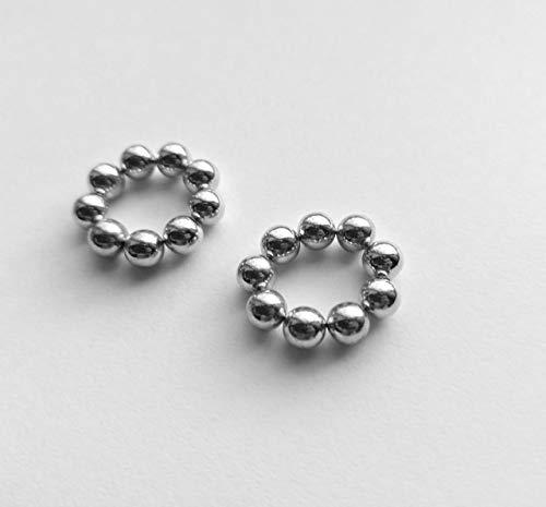 Silver Magnetic Nipple Rings Nipple noose Non Pierrcing Nipple Rings