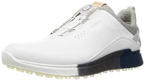 ECCO S-Three Boa, Zapatos de Golf Hombre, White Seaport, 42 EU