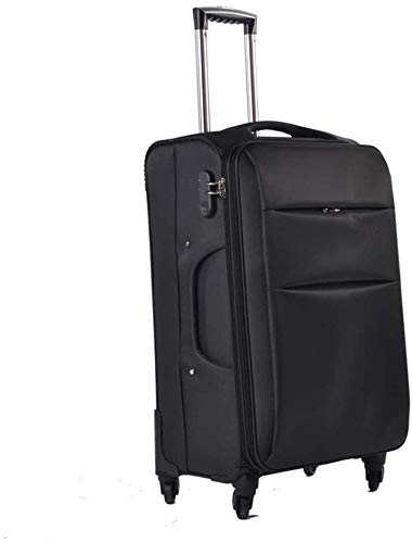 GQY - two wheels trolley suitcase luggage suitcase computer package (Color : Noir, Size : 39 * 24 * 63cm(24))