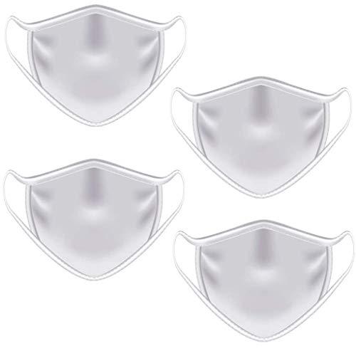 Akaide Mundschutz für Männer und Frauen, waschbar und wiederverwendbar, staubdicht, 4 Stück, Herren, weiß, 1 PC