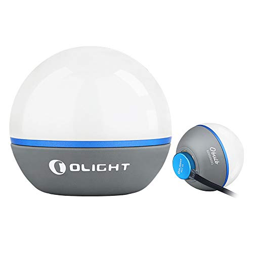 OLIGHT Obulb 55 Lumens 4-Mode Orb Light Night Lights MCC Rechargeable Bedside Lamp with Magnetic Bottom for Home Decor, Nursery, Camping, Hiking(Grey)