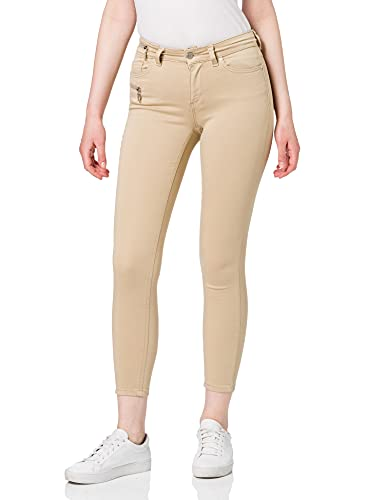 Only ONLCARMEN Life REG Skinny ANK Zip PNT Jeans, Humus, L_32 para...