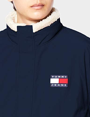(トミーヒルフィガー)TOMMYHILFIGERリバーシブルシェルパジャケットDM09529Lネイビー