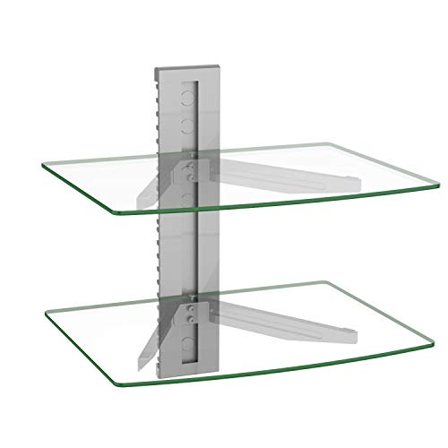 WALI CS202S Floating Wall Mounted Shelf with Transparent...