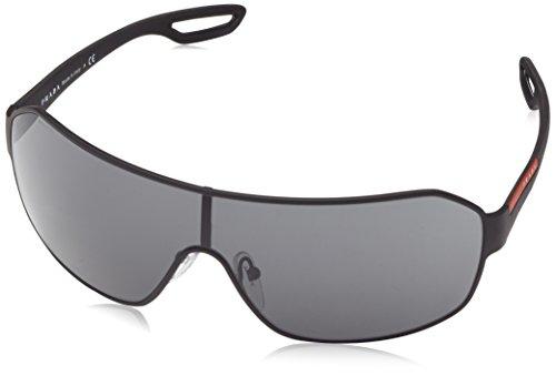 Prada SPORT Herren 0Ps52Qs Dg01A1 0 Sonnenbrille, Schwarz (Black Rubber/Grey), 37