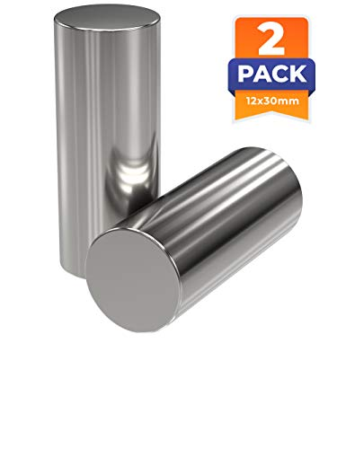 2x Neodym Power Magnet silber | Stabmagnet extra stark lang | Stab Durchmesser 12 mm x 30 mm lang | 2 Neodymium Magnets Strong Long Magnetic Stick | starke Magneten Supermagnet