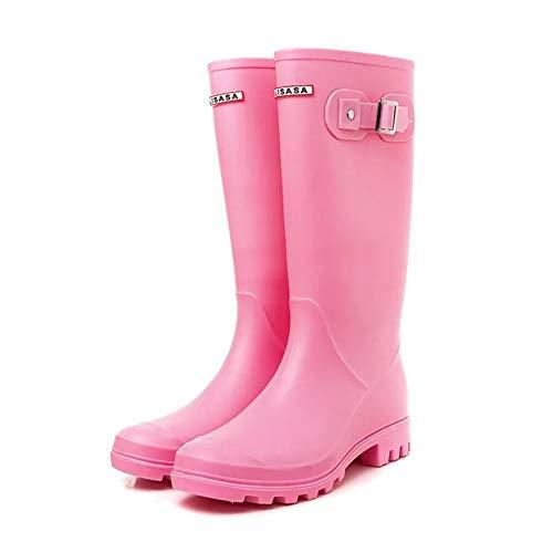 Buy Brooklyn Walk Original Tall Rain Boots for Women British Classic  Waterproof Rainboots Ladies Wellies Wellington Matte Boots36-41 EU (38)  Pink at Amazon.in