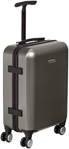 AmazonBasics Hardshell Spinner Suitcase with Built-In TSA Lock, 22.8-Inch, Graphite