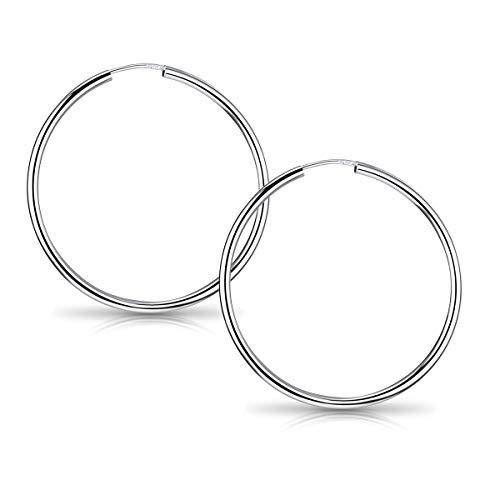 MATERIA Ohrringe Creolen Damen Frauen - 925 Sterling Silber Kreolen Ringe 29mm dünn in Box so-105