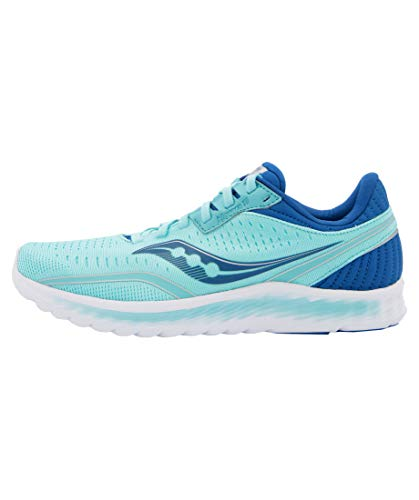 Saucony Women's S10552-25 Kinvara 11 Running Shoe, Aqua/Blue - 10.5 W US
