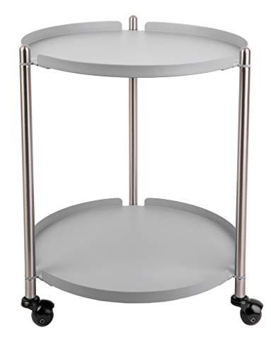Present Time - Table d'appoint Grise Mate et métal Thrill