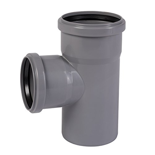 HT Rohr Abzweig DN 70/75 mm 87 Grad Kunststoffrohr Einfachabzweig Abwasserrohr