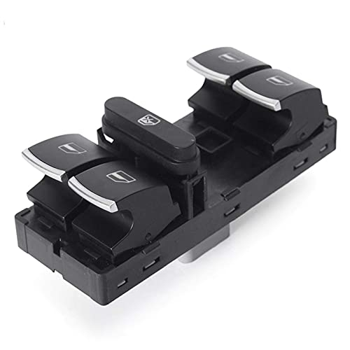 KTZAJO Interruptor de ventana eléctrico Interruptor de ventana compatible con VW Volkswagen CC Golf Passat Jetta Tiguan Touran Oe 5K4959857 5ND959857 Reemplazo