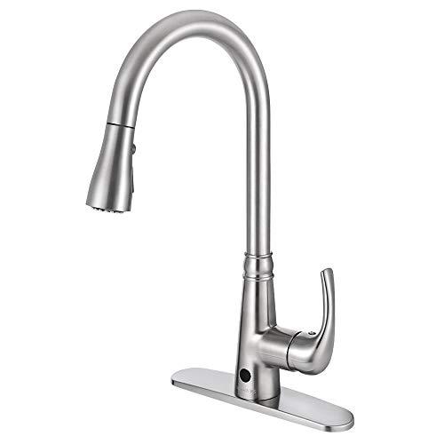 Motion Sensor Kitchen Faucet with Sprayer -...