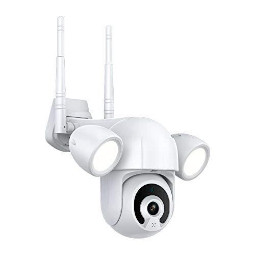 3MP proyector patio Iluminación Cámara inteligente PTZ al aire libre WiFi IP ir IP66 impermeable hogar jardín CCTV seguridad cam