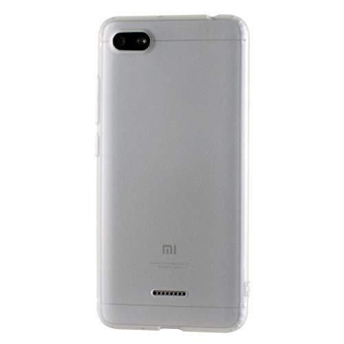 XUEYAN521 Caja del teléfono móvil Funda de Silicona Xiaomi Redmi 6A, Funda de TPU para Xiaomi redmi 6a 7A Coque Funda en teléfono 16 GB 32 GB versión Global 360-Redmi 6A-Blanco translúcido
