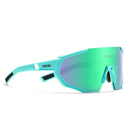 KDEAM Cycling Sunglasses Polarized UV Protection TR90 Lightweight glasses For Men & Women KD0802 (C7)