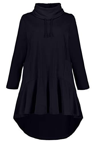 Ulla Popken Long-Sweater Maillot de survtement, Bleu Marine (72741870), 48 Femme
