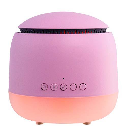 MadebyZen Olly - Difusor ultrasónico de aroma con altavoz Bluetooth, color rosa
