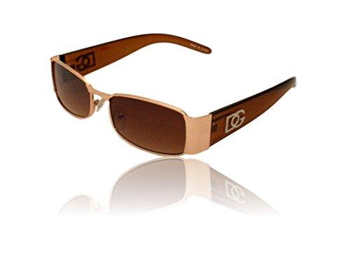 New DG Mens Womens Rectangular Designer Sunglasses shades # zb120 brown