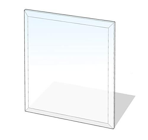 Lienbacher Glasbodenplatte,Stärke 6 mm, Fase 20 mm 100 x 110 cm,rechteckig