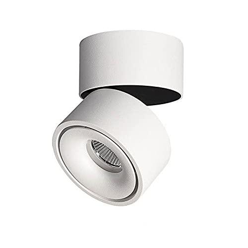 Apliques Luz de techo LED regulable 7W /10W/15W/18W LED Lámpara de techo montada en superficie,LED giratorio plegable y de 360 grados MAZORCA destacar