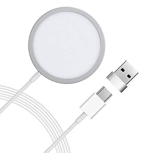 LETSCOM Magnetische Wireless Charger, iPhone 12 kabellose Ladegerät mit automatischer Adsorption Kompatibel mit iPhone 12 Mini /12/11/11 Pro Max/XS Max/XR/XS/X/8/8+ iPhone