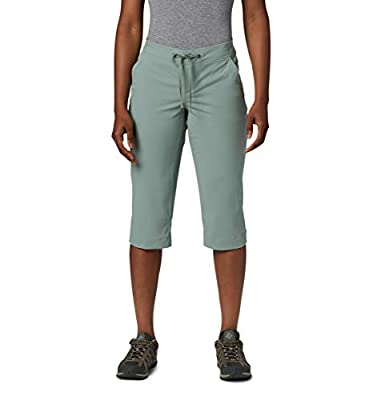 Columbia Women's Anytime Outdoor Capri, Water and Stain Repellent, Light Lichen, 14W x 18L