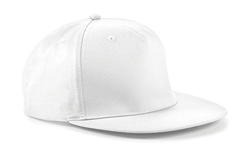 Snapback Hip Hop Rapper Cap, Farbe:White;Größe:One Size one size,White