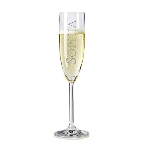 Sektglas mit Name graviert - personalisiertes Sektglas - mit individueller Wunsch-Gravur als Geschenk Name