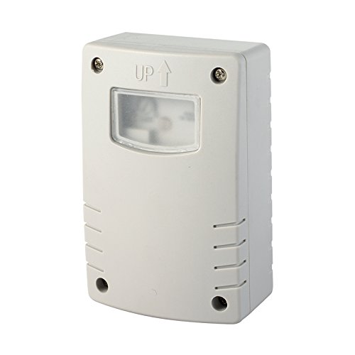 Energaline 58064 schemerschakelaar met programmering, nachtlampje, timer, voor gebruik buitenshuis, IP44, wit, wit