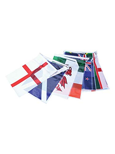 AZ FLAG Rugby World Cup Japan 2019 4 Meters Bunting Flag 20 Flags 6'' x 4'' - World Championship String Flags 10 x 15 cm