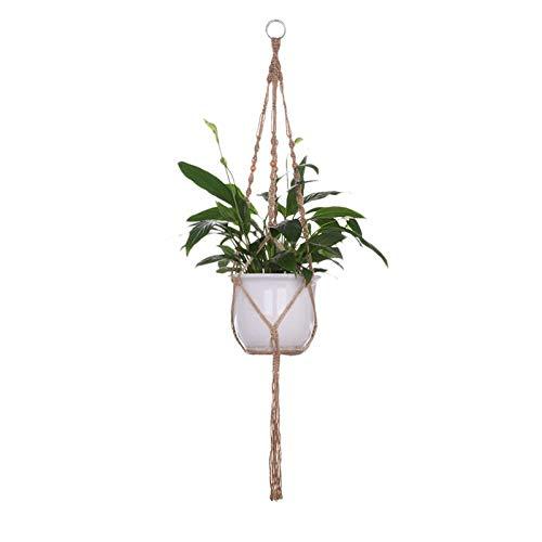 Trendy household hangende plantenmand 1 stuks groot formaat bedrijfshanger mand handgemaakt touw pot houder fijne henneptouw bloempot plant lanyard bloempot -hangend touw