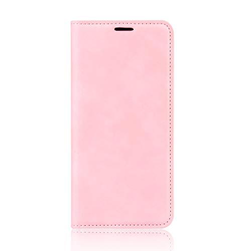 NEINEI Funda para Xiaomi Mi 11 Lite 4G/5G,Libro Cuero Carcasa Billetera con [Ranuras y Tarjetas] [Magnético] [Función de Soporte],Diseño Simple PU/TPU Flip Movil Cover Case,Rosado