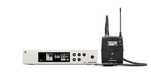 Sennheiser Pro Audio Sennheiser EW 100-CI1 Instrument Wireless System-A1 Band (470-516Mhz), Black/White, 100 G4-CI1-A1