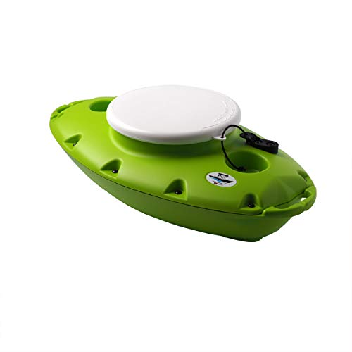 CreekKooler PuP Floating Cooler, 15 Quart, Tow Behind, Green, 15 QT