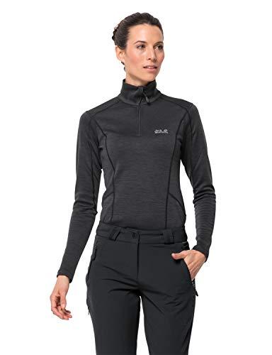 Jack Wolfskin Damen ACTIVATE THERMIC PANTS Damen elastische Softshellhose, schwarz, 36