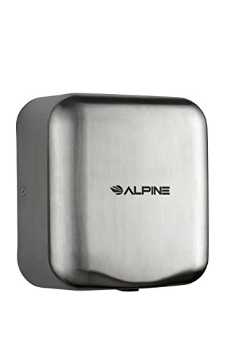 Alpine Hemlock Automatic Hand Dryer - Heavy Duty Stainless Steel - Commercial High Speed Hot Air Hand Blower   1800Watts   110-120Volts   Quick & Easy Installation