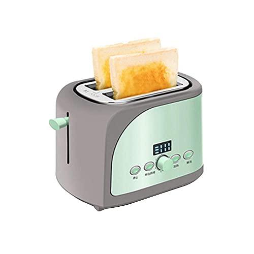Fuerte 2 tostadora de rebanada, tostadora de pan con 7 control de bronceado variable, ranuras anchas, bandeja de miga extraíble, función de cancelación de recalentamiento de descongelamiento, BPA libr