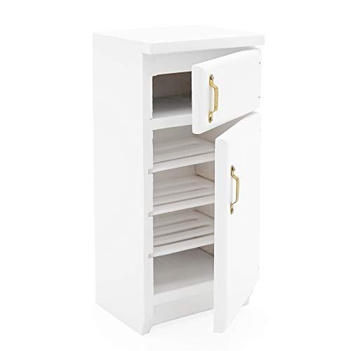 Odoria 1:12 Miniatura 2 Puertas Frigorífico Blanco Muebles de Casa de Muñecas Accesorios