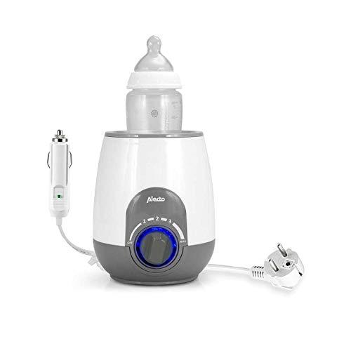 Alecto BW-512 CAR Babykost- und Flaschchenwärmer für unterwegs und zu Hause, mit Warmhaltefunktion, Trockenschutz und 12V KFZ-Adapterkabel